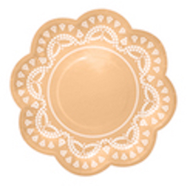Apricot Lovely Lace  - paper plates