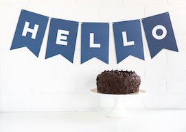 Blueberry Paper Love  - Letter Banner