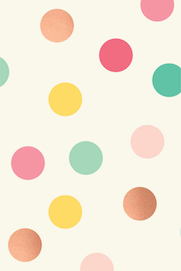 Hooray dots with  - rose gold foil wrapping paper