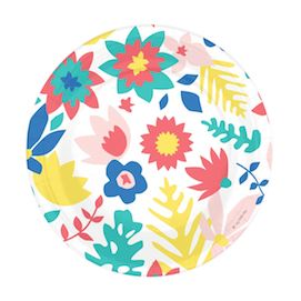Floral  - party plates