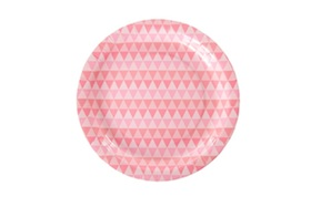 Pink Geo  - paper plates