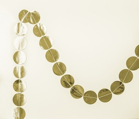 Gold metallic dot  - garland