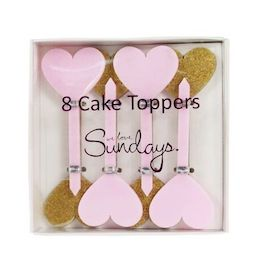 Gold and Pink  - cupcake toppers