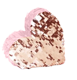 Rose gold & pink  - heart pinata