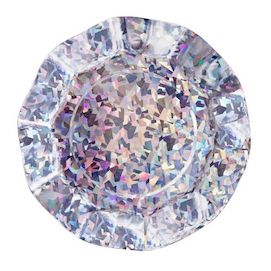 Holographic Ruffled  - paper plates