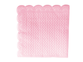 Pink Lovely Lace  - napkins