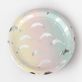 Dolphins  - party plates