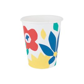 Floral  - party cups