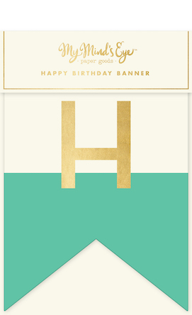 Happy Birthday  - mint blue letter banner