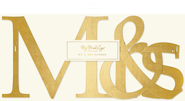 Mr & Mrs  - party banner