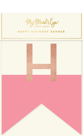 Happy birthday  - pink letter banner