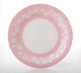 Daisy chain cake plates  - pastel pink