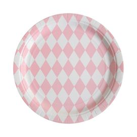 Pink diamonds  - party plates