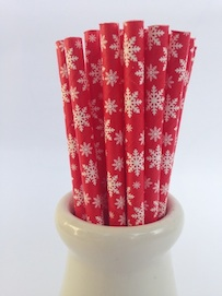 Red Snow  - Paper Straws