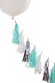 Balloon tassel tail  - mint shimmer